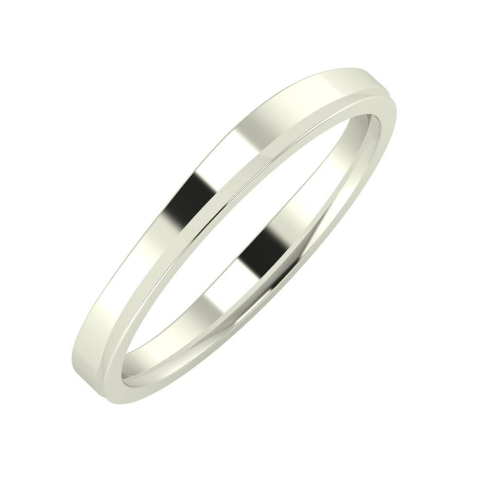 Adria - Aisa 3mm 14 karátos fehér arany karikagyűrű