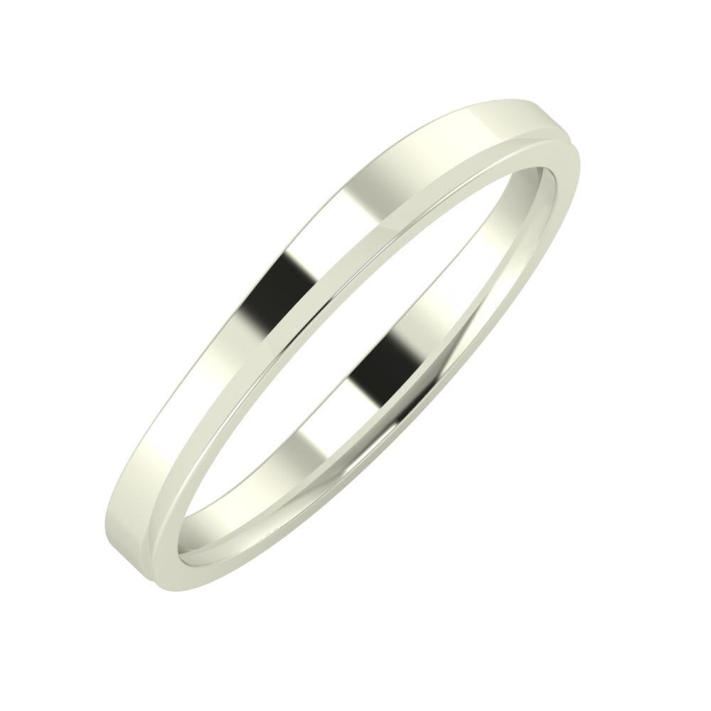 Adria - Aisa 3mm 18 karátos fehér arany karikagyűrű