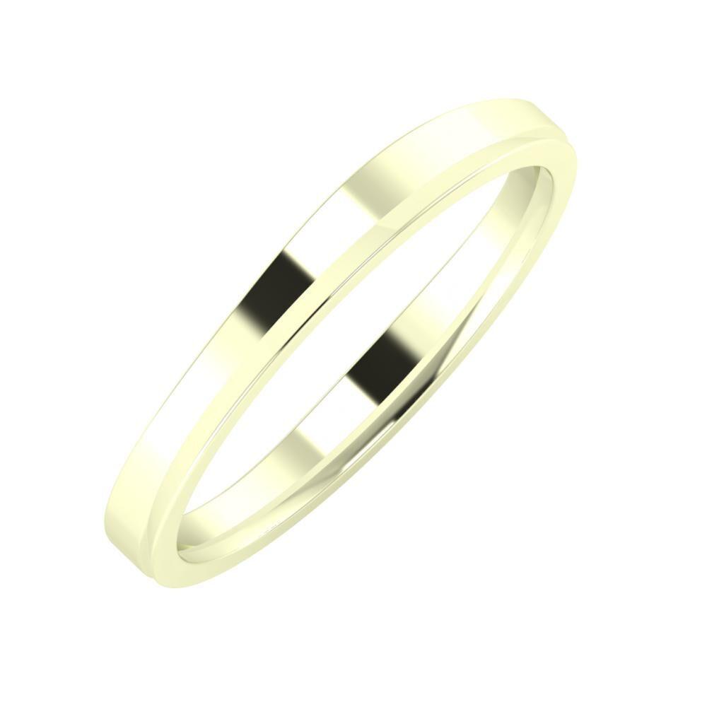Adria - Aisa 3mm 22 karátos fehér arany karikagyűrű