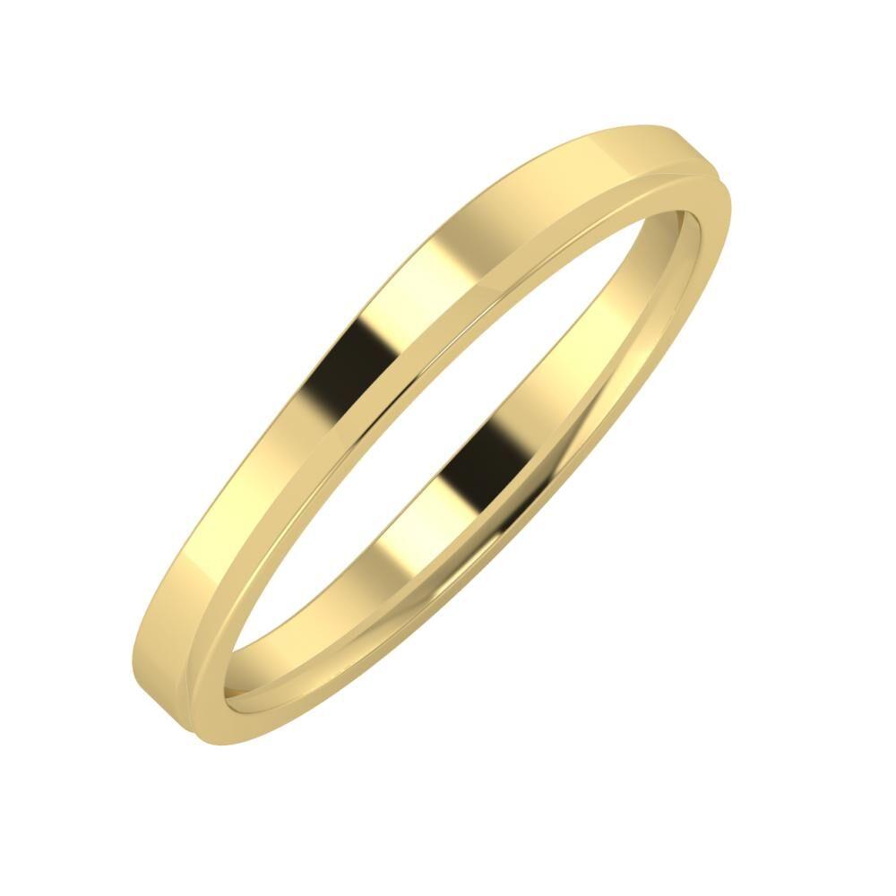 Adria - Aisa 3mm 14 karátos sárga arany karikagyűrű
