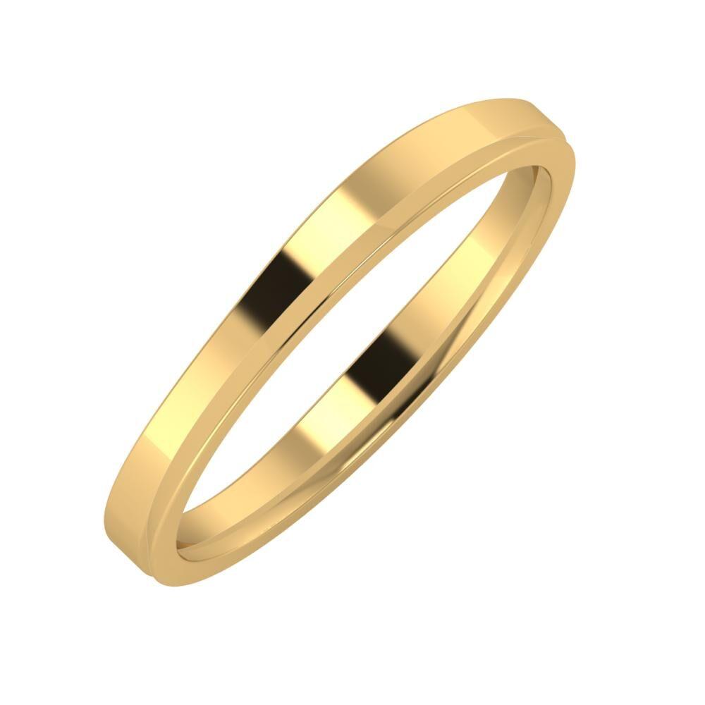 Adria - Aisa 3mm 22 karátos sárga arany karikagyűrű