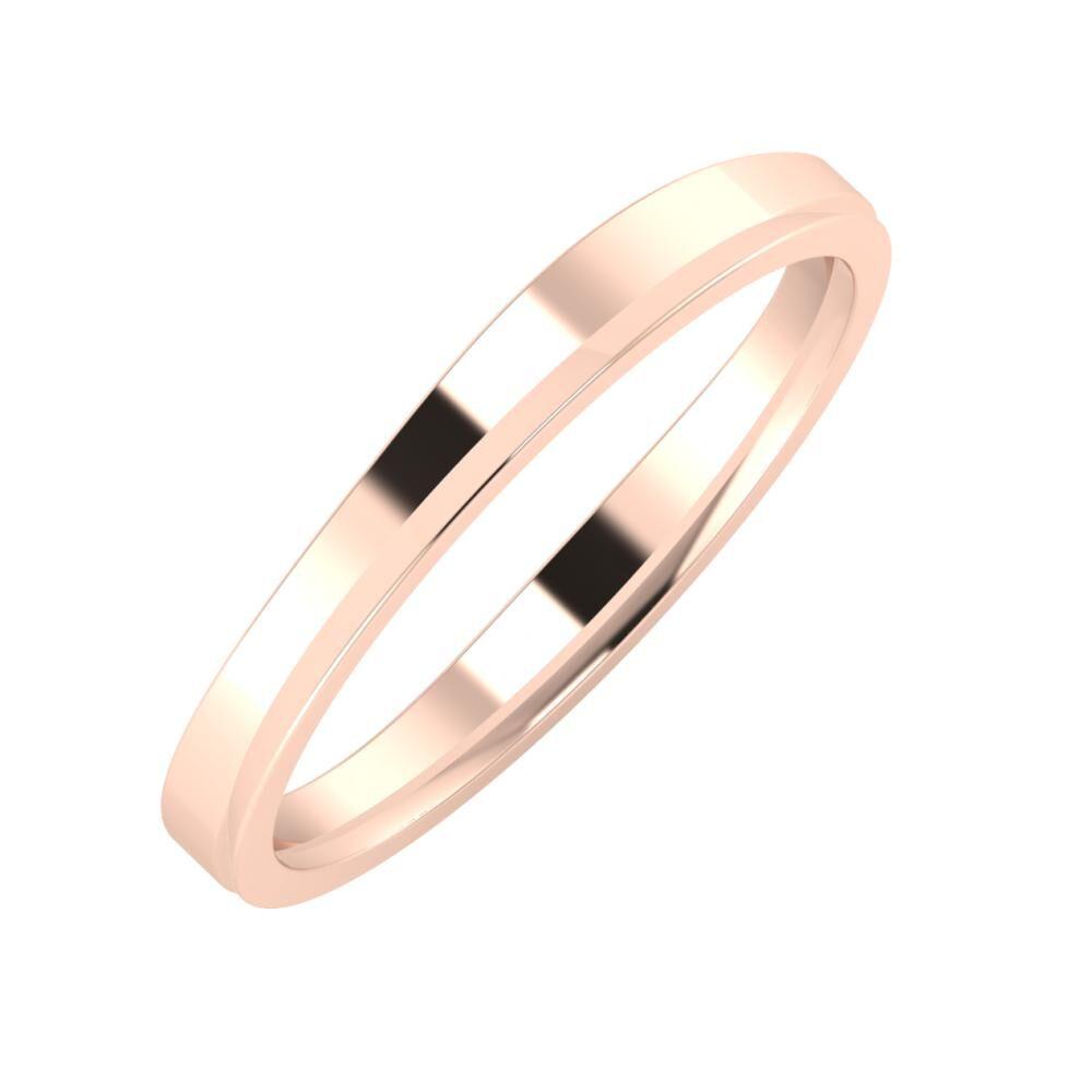 Adria - Aisa 3mm 18 karátos rosé arany karikagyűrű