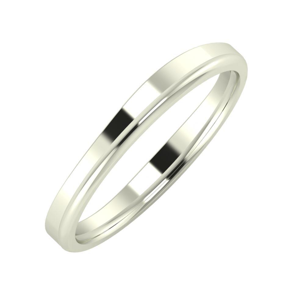 Adria - Aletta 3mm 18 karátos fehér arany karikagyűrű
