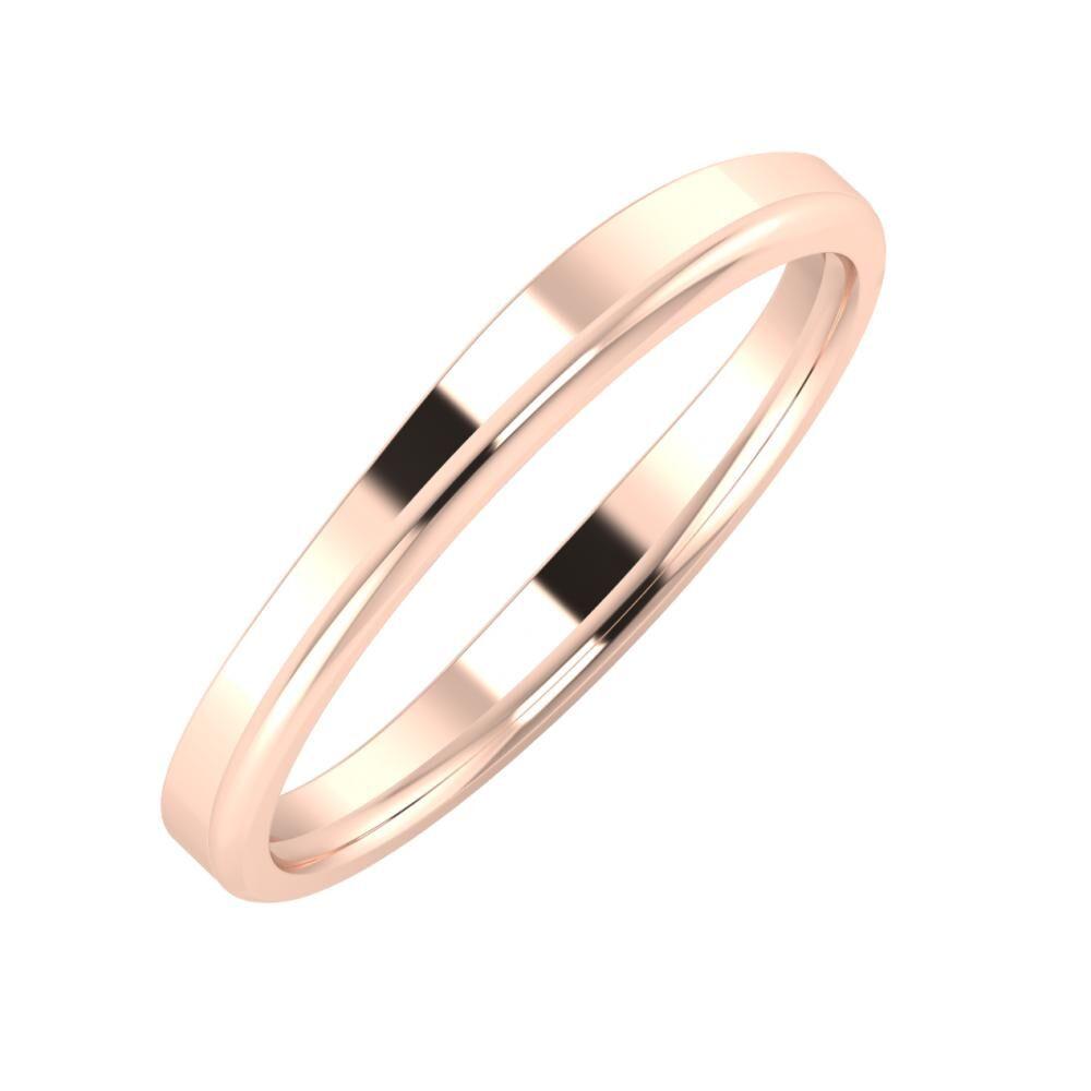 Adria - Aletta 3mm 18 karátos rosé arany karikagyűrű