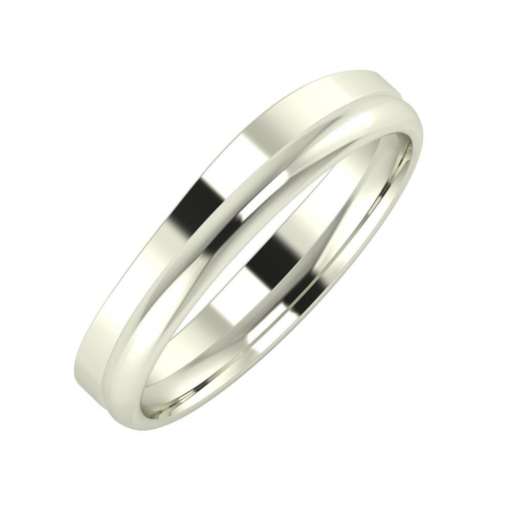 Adria - Alexa 4mm 18 karátos fehér arany karikagyűrű