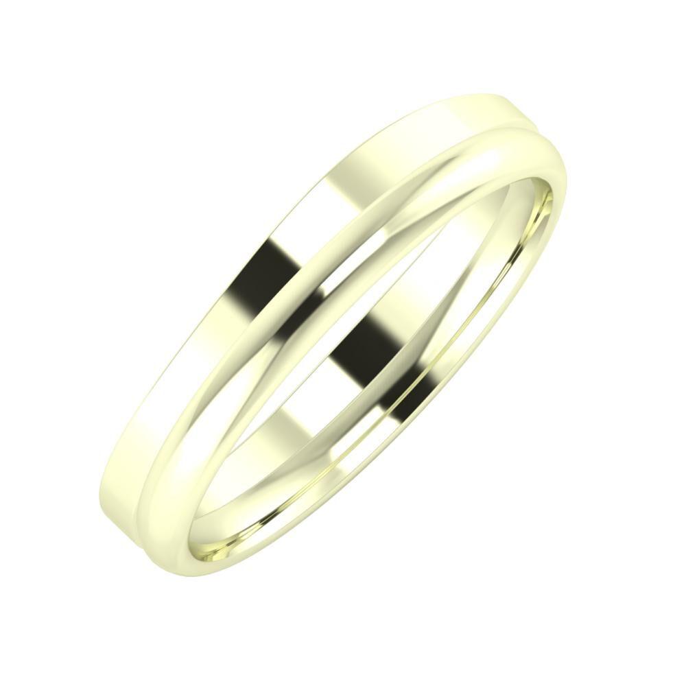 Adria - Alexa 4mm 22 karátos fehér arany karikagyűrű