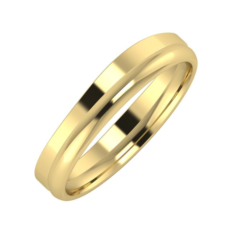 Adria - Alexa 4mm 14 karátos sárga arany karikagyűrű
