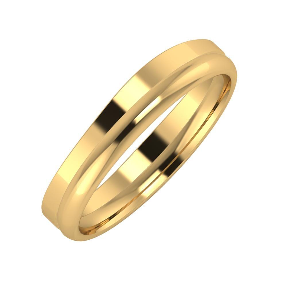 Adria - Alexa 4mm 22 karátos sárga arany karikagyűrű