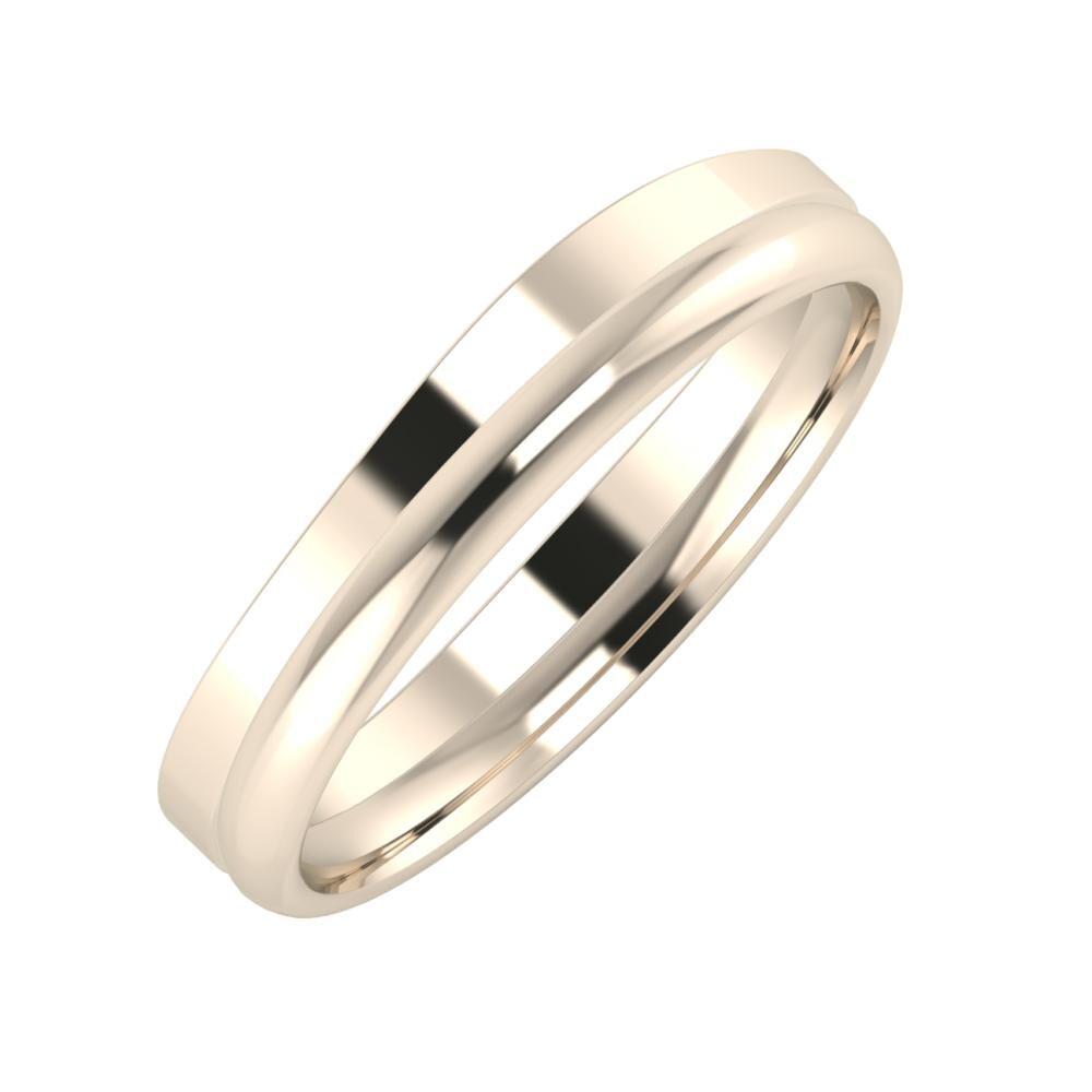 Adria - Alexa 4mm 22 karátos rosé arany karikagyűrű