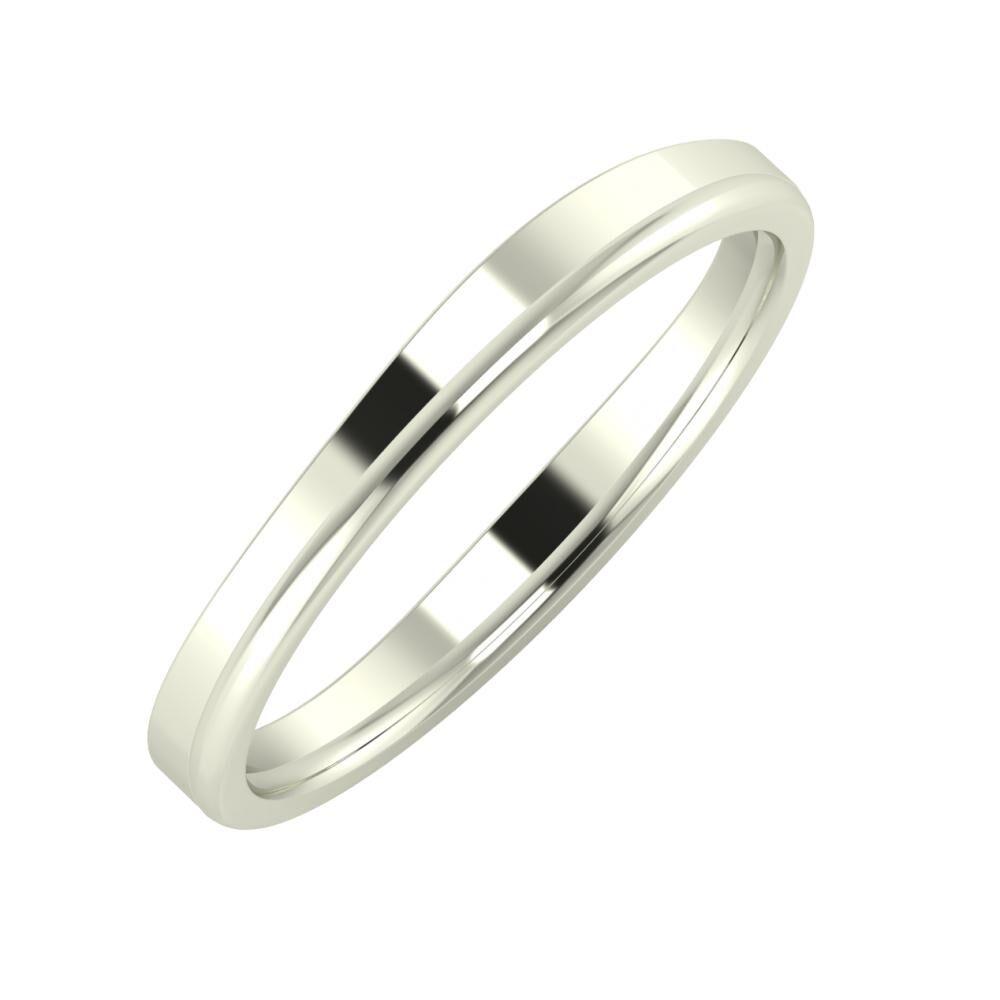Adria - Alexandra 3mm 14 karátos fehér arany karikagyűrű