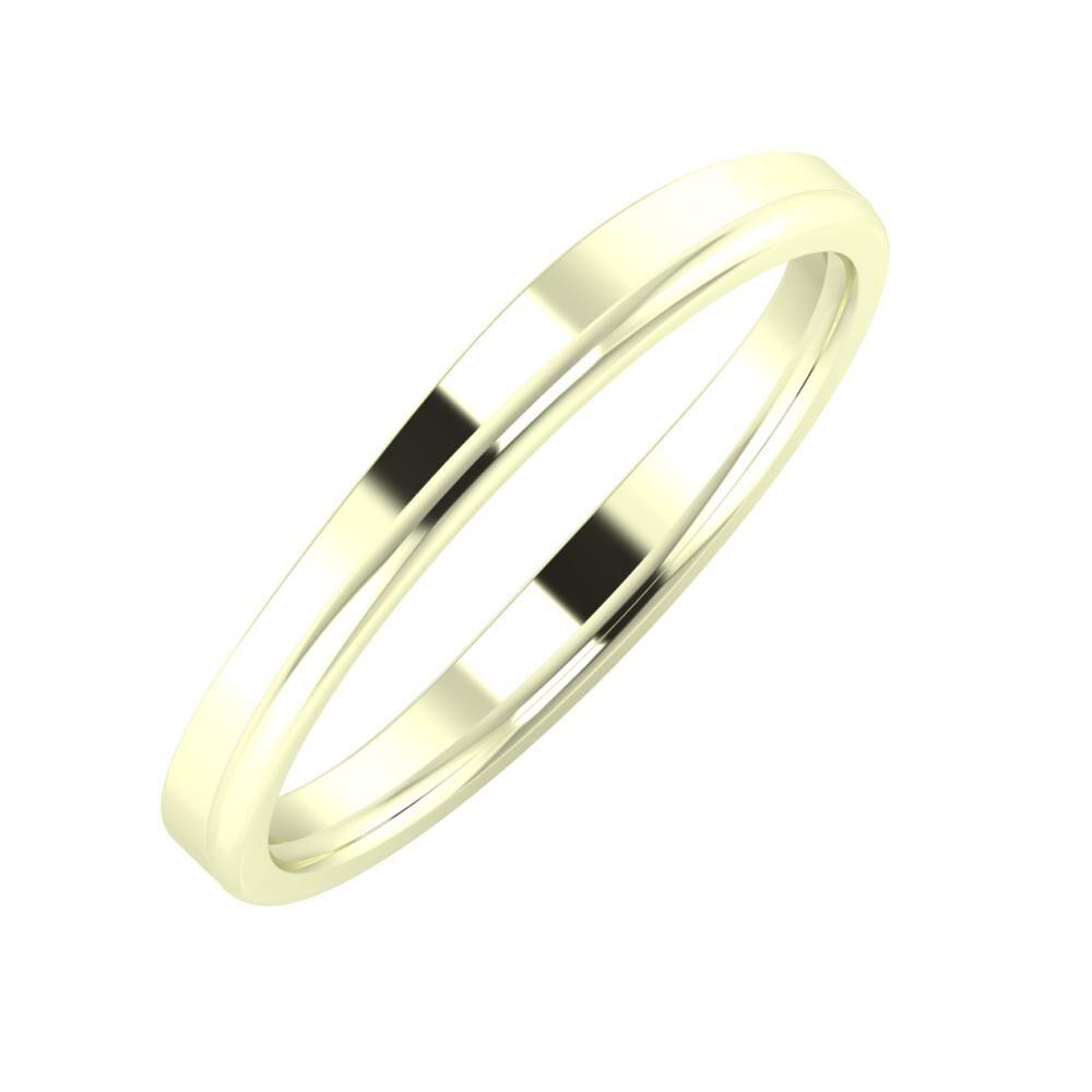 Adria - Alexandra 3mm 22 karátos fehér arany karikagyűrű