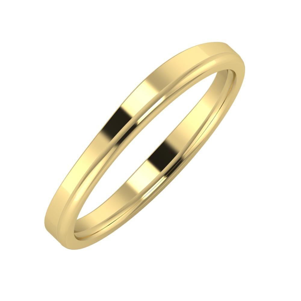 Adria - Alexandra 3mm 14 karátos sárga arany karikagyűrű