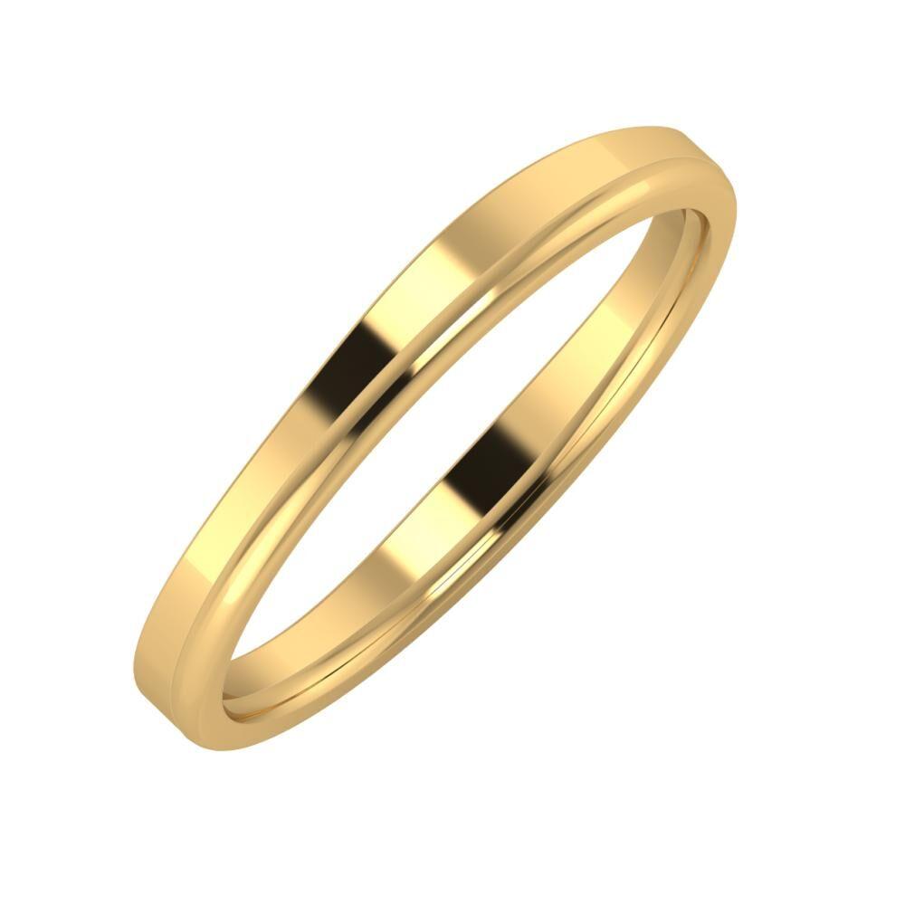 Adria - Alexandra 3mm 18 karátos sárga arany karikagyűrű