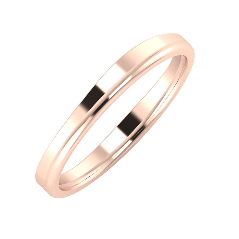 Adria - Alexandra 3mm 18 karátos rosé arany karikagyűrű