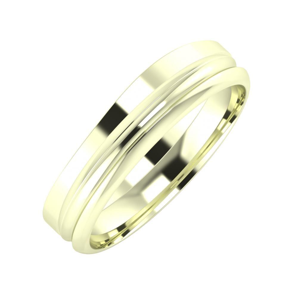 Adria - Alexandrin 5mm 22 karátos fehér arany karikagyűrű