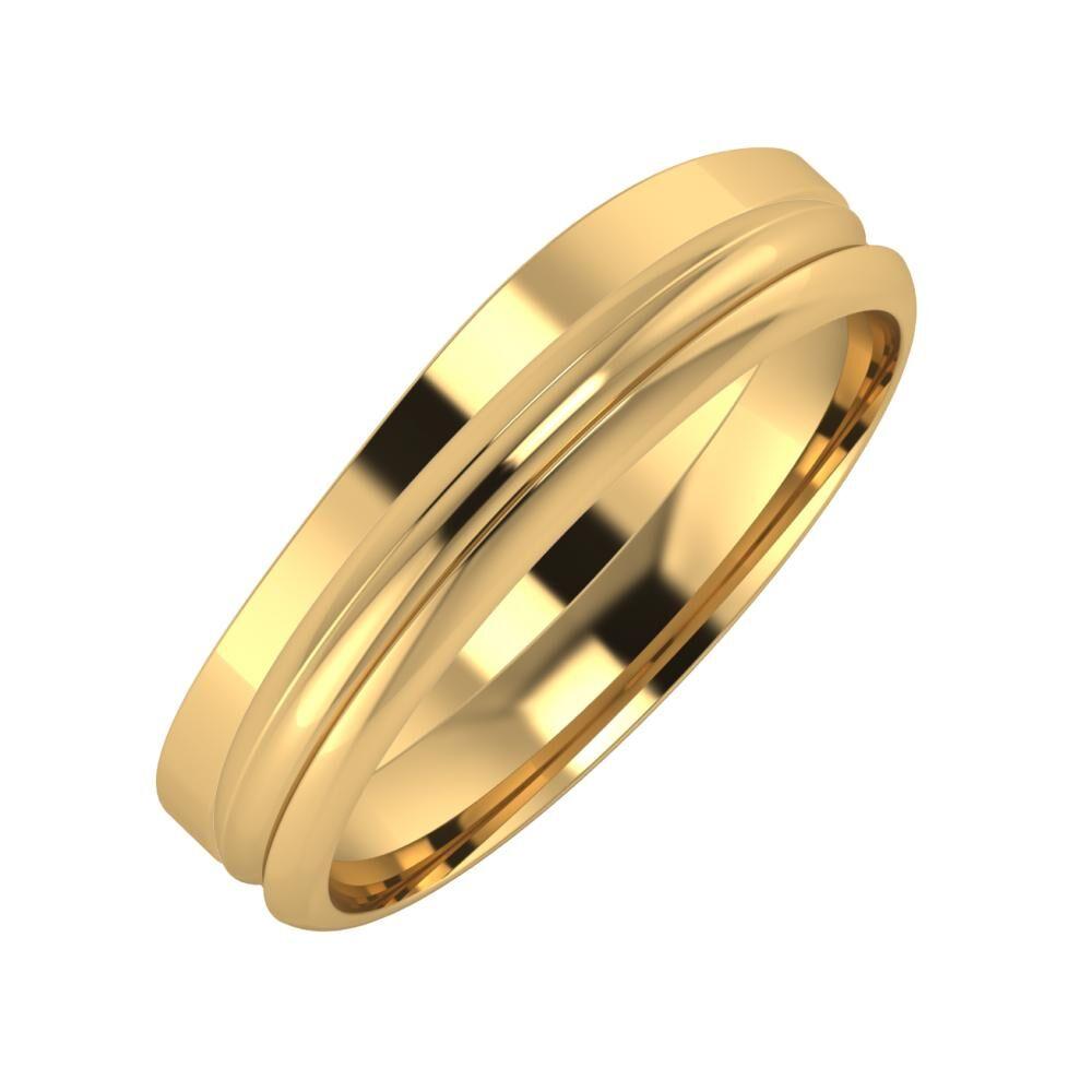 Adria - Alexandrin 5mm 18 karátos sárga arany karikagyűrű