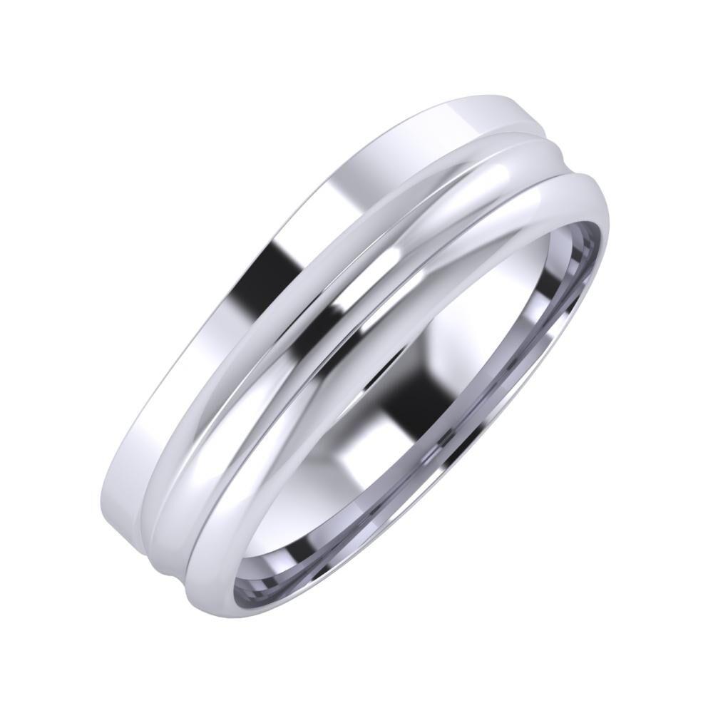 Adria - Alexandrin 6mm platina karikagyűrű