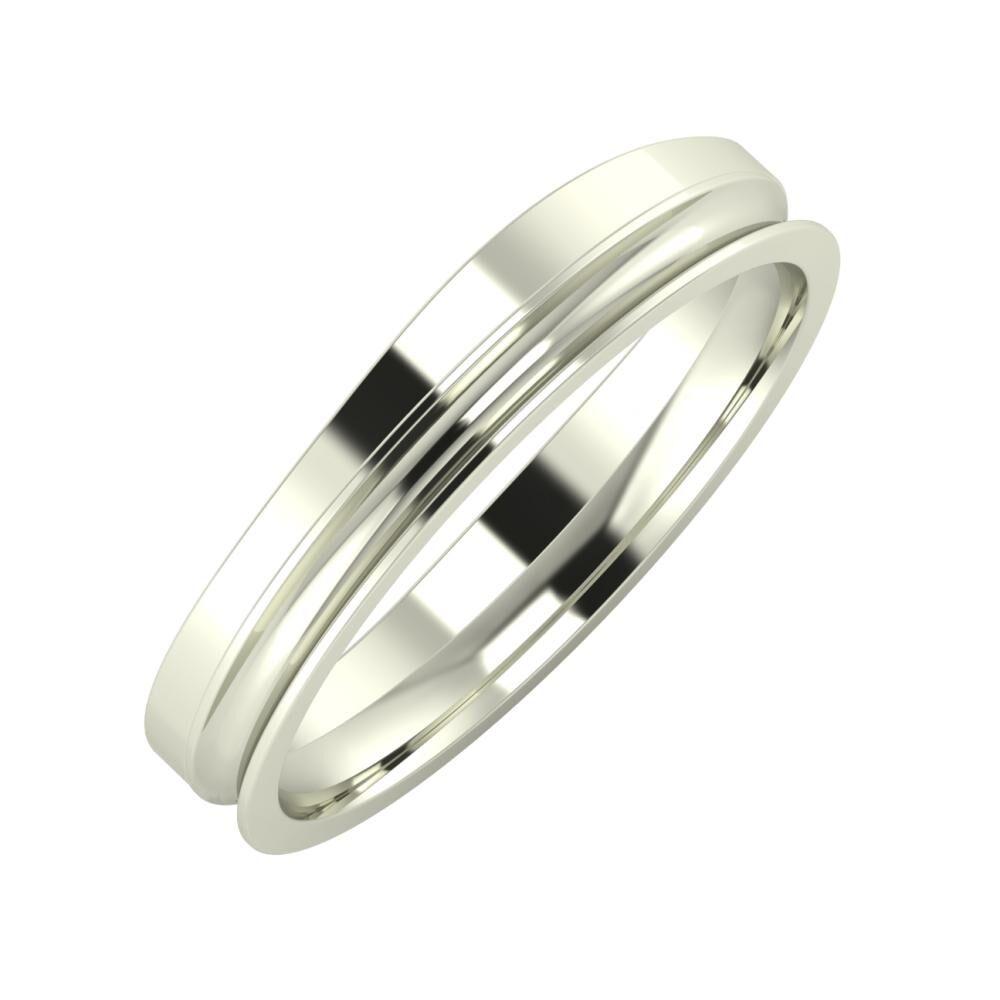 Adria - Alexandrina 4mm 14 karátos fehér arany karikagyűrű