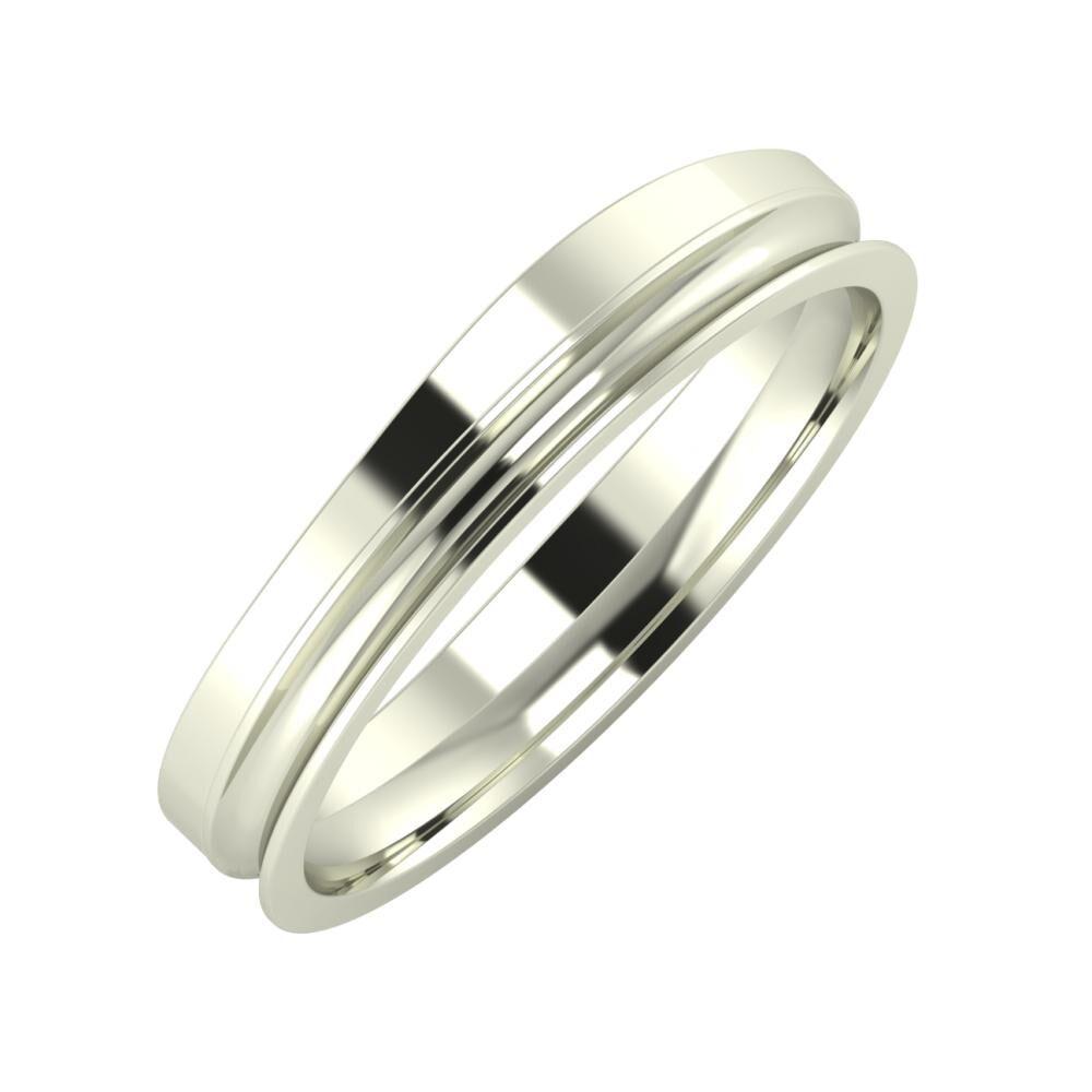 Adria - Alexandrina 4mm 18 karátos fehér arany karikagyűrű