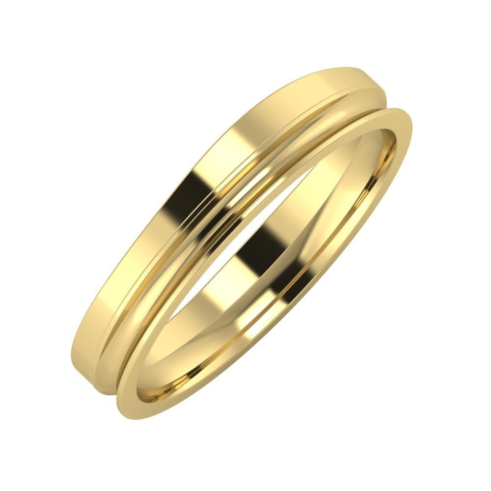 Adria - Alexandrina 4mm 14 karátos sárga arany karikagyűrű