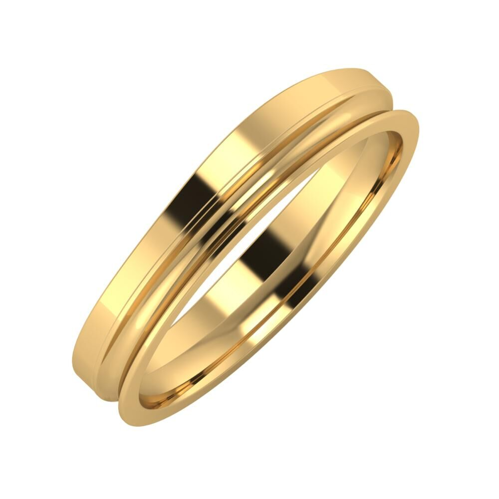 Adria - Alexandrina 4mm 22 karátos sárga arany karikagyűrű
