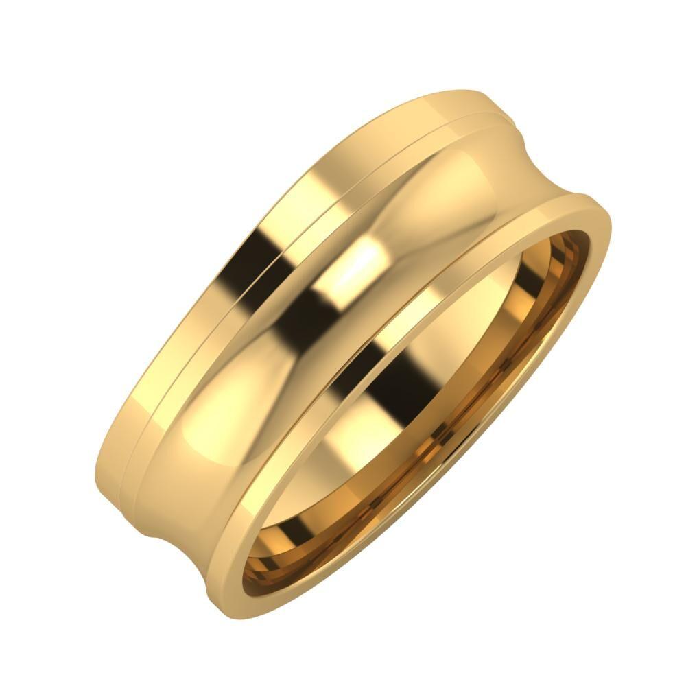 Adria - Alexandrina 7mm 18 karátos sárga arany karikagyűrű