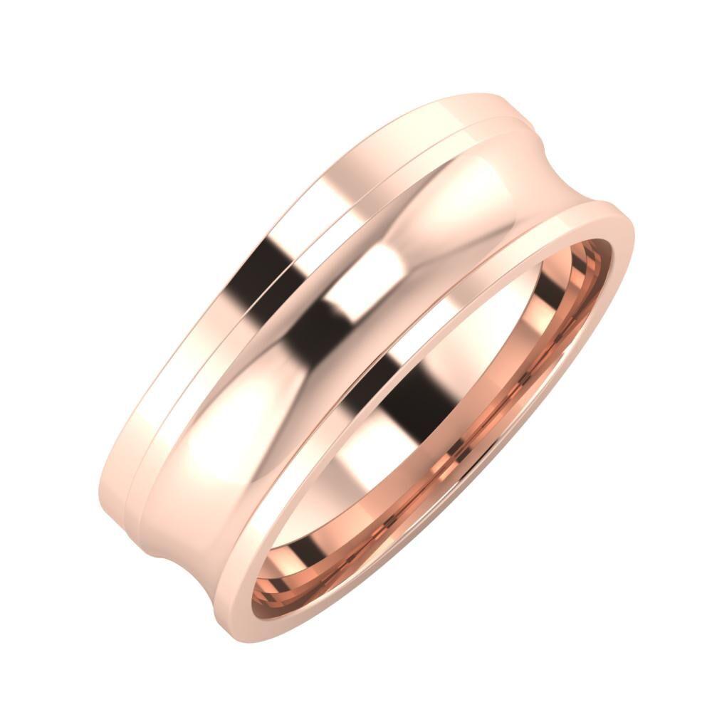 Adria - Alexandrina 7mm 14 karátos rosé arany karikagyűrű