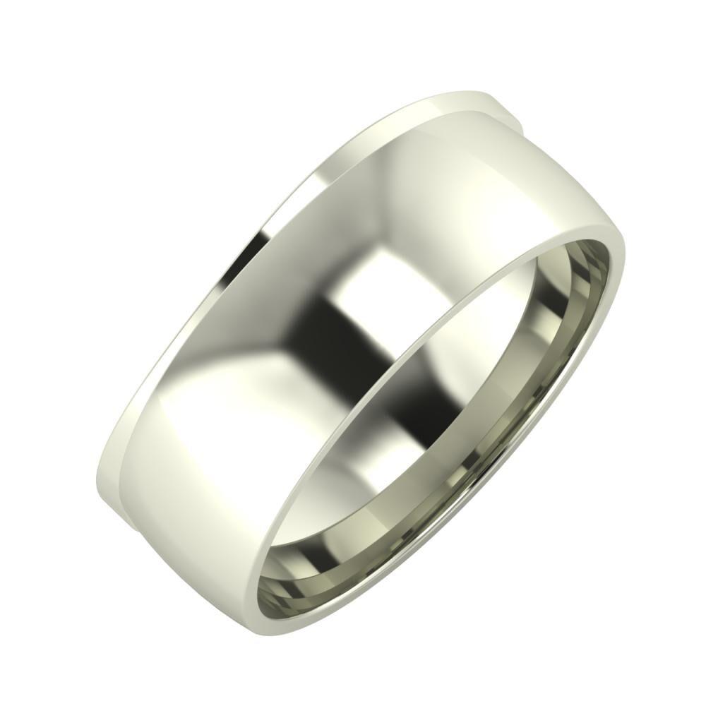 Adria - Alma 8mm 14 karátos fehér arany karikagyűrű