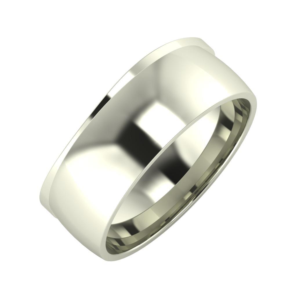 Adria - Alma 8mm 18 karátos fehér arany karikagyűrű