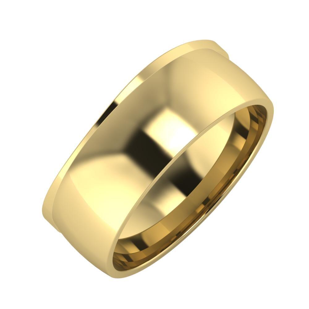 Adria - Alma 8mm 14 karátos sárga arany karikagyűrű