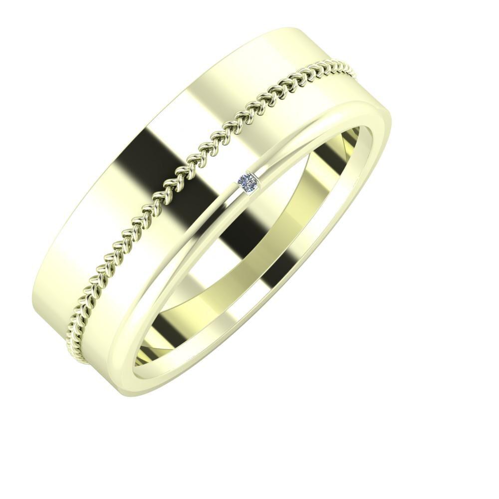 Áfonya - Adalind 7mm 22 karátos fehér arany karikagyűrű