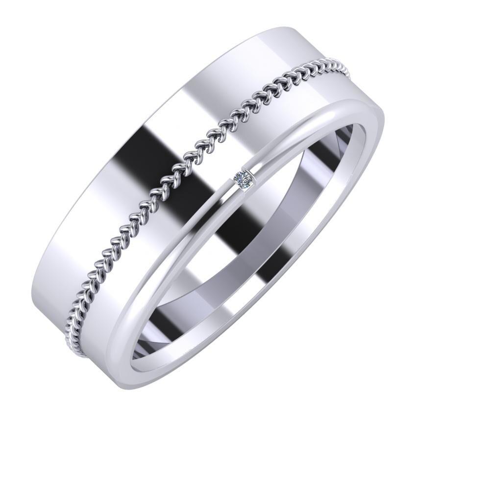 Áfonya - Adalind 7mm platina karikagyűrű