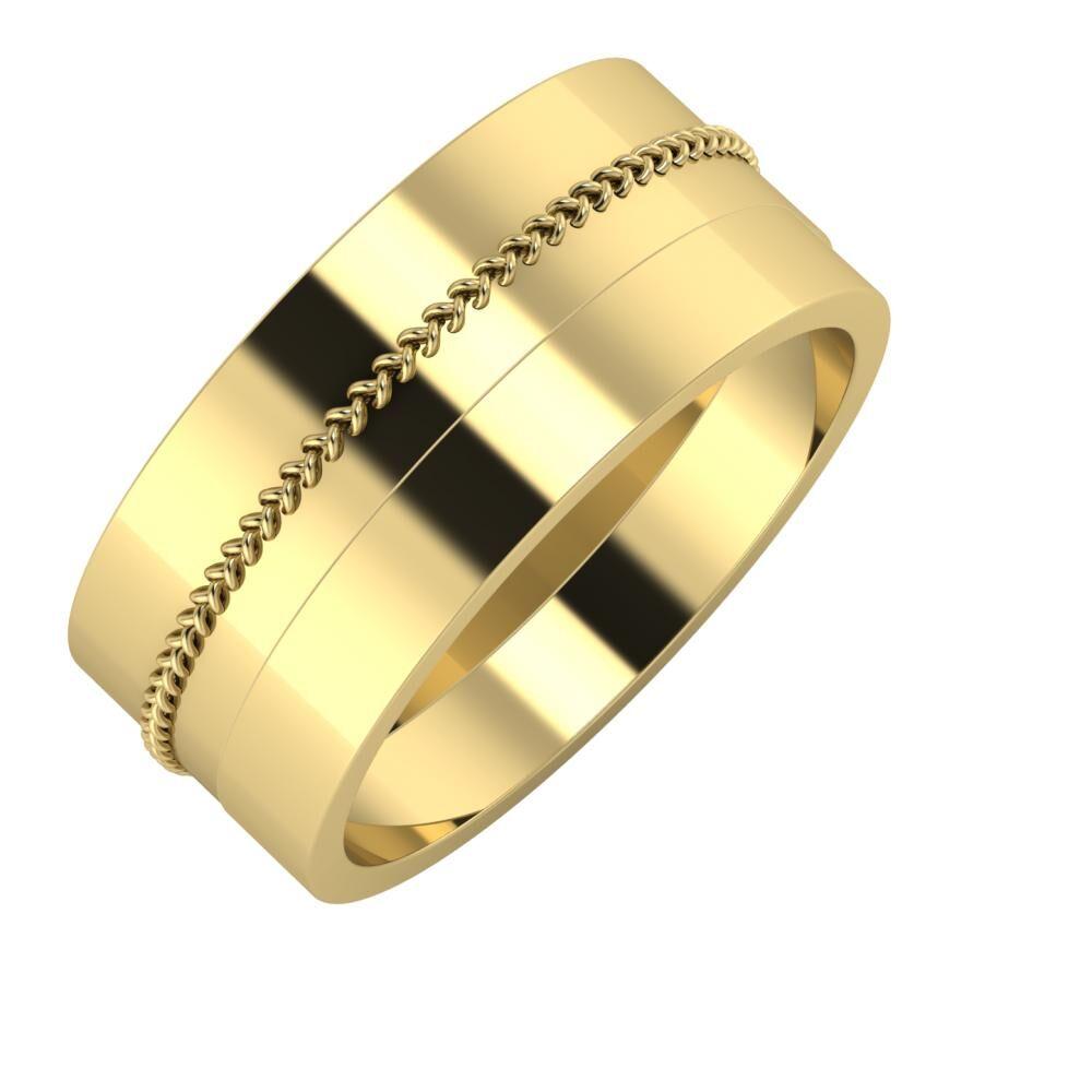 Áfonya - Adela 9mm 14 karátos sárga arany karikagyűrű