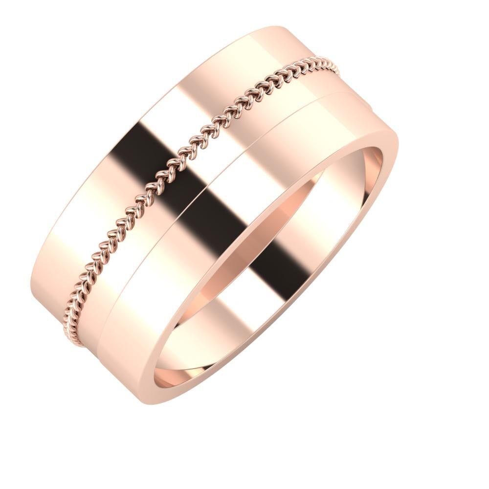 Áfonya - Adela 9mm 18 karátos rosé arany karikagyűrű