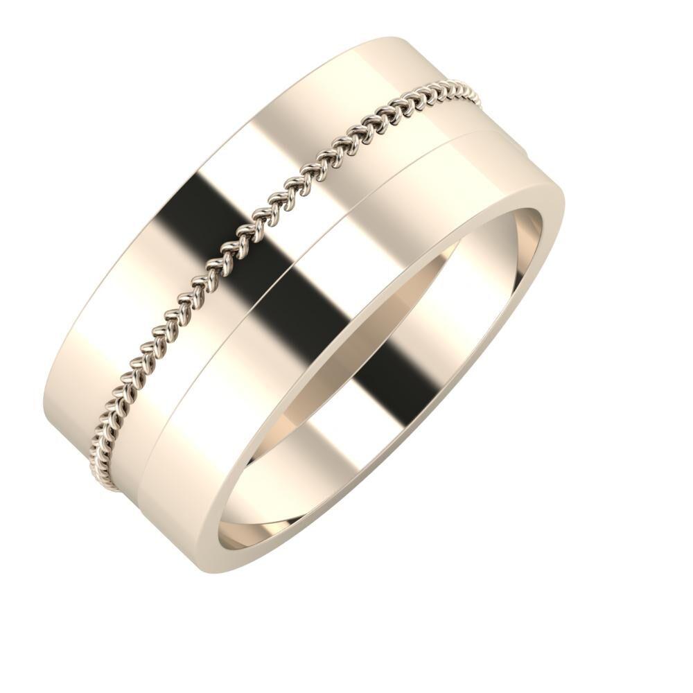 Áfonya - Adela 9mm 22 karátos rosé arany karikagyűrű