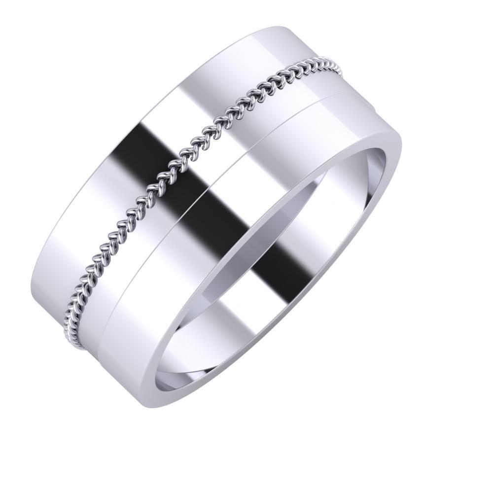 Áfonya - Adela 9mm platina karikagyűrű