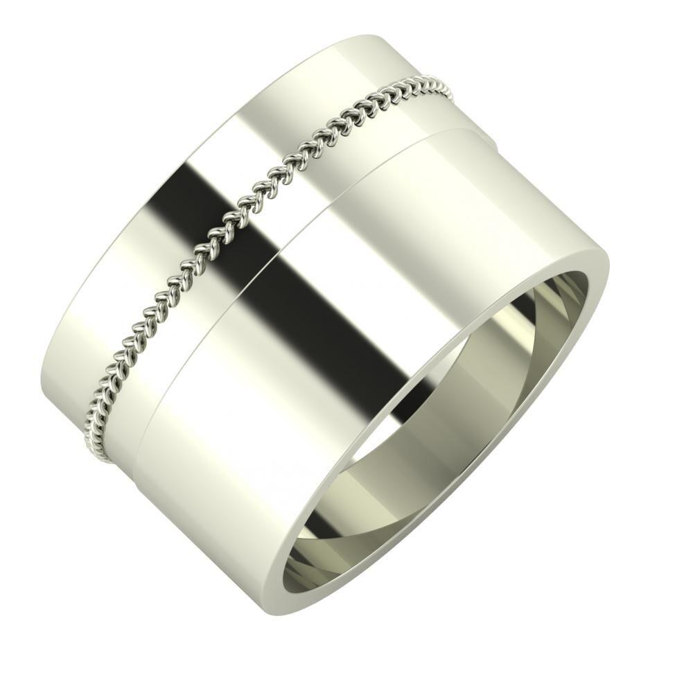 Áfonya - Adela 13mm 14 karátos fehér arany karikagyűrű
