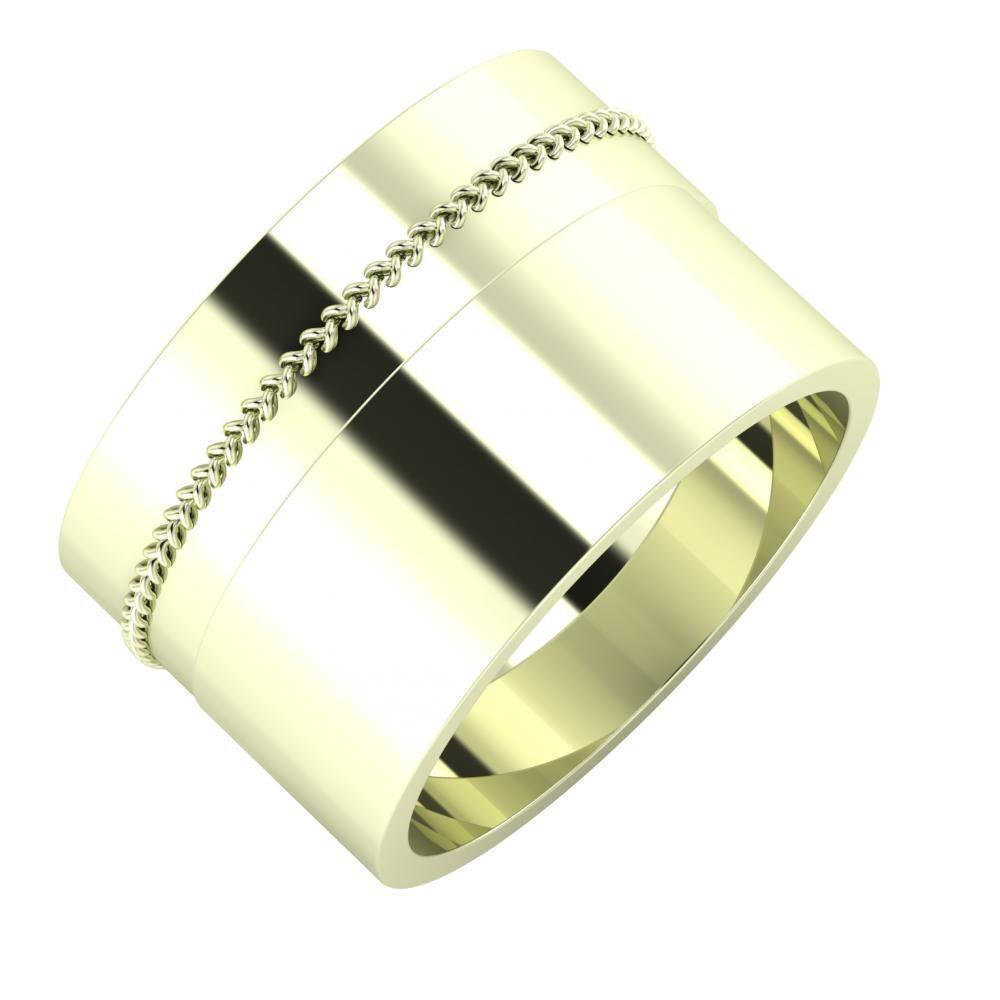 Áfonya - Adela 13mm 22 karátos fehér arany karikagyűrű