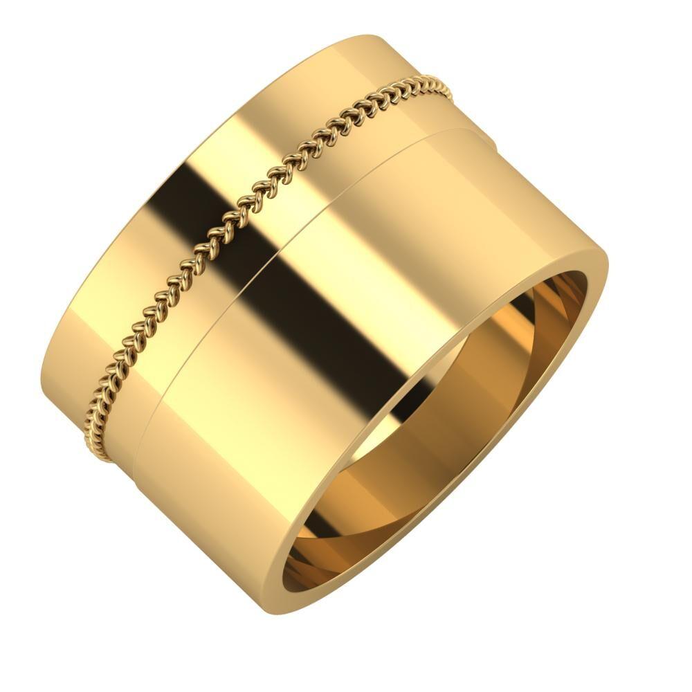 Áfonya - Adela 13mm 22 karátos sárga arany karikagyűrű