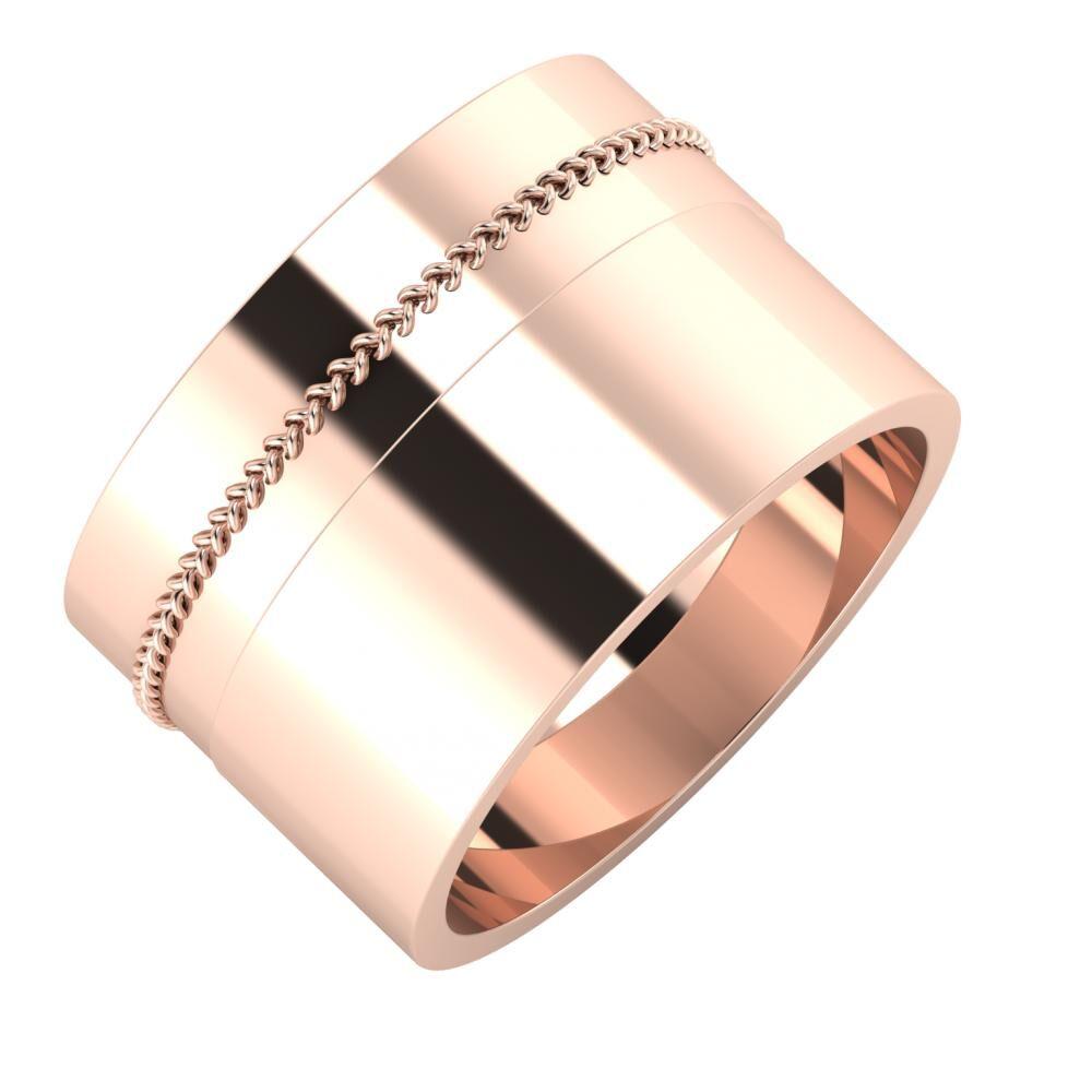 Áfonya - Adela 13mm 14 karátos rosé arany karikagyűrű