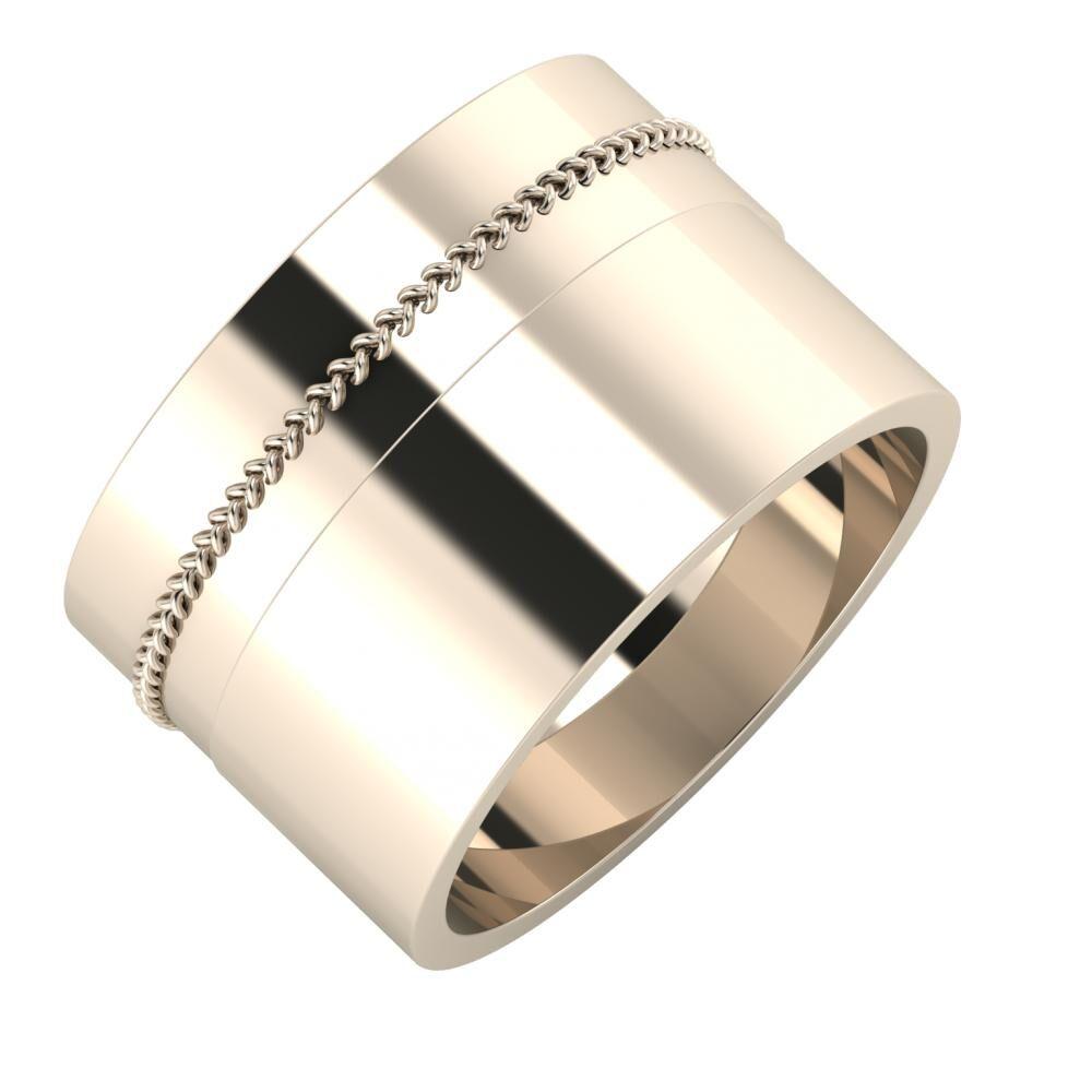 Áfonya - Adela 13mm 22 karátos rosé arany karikagyűrű