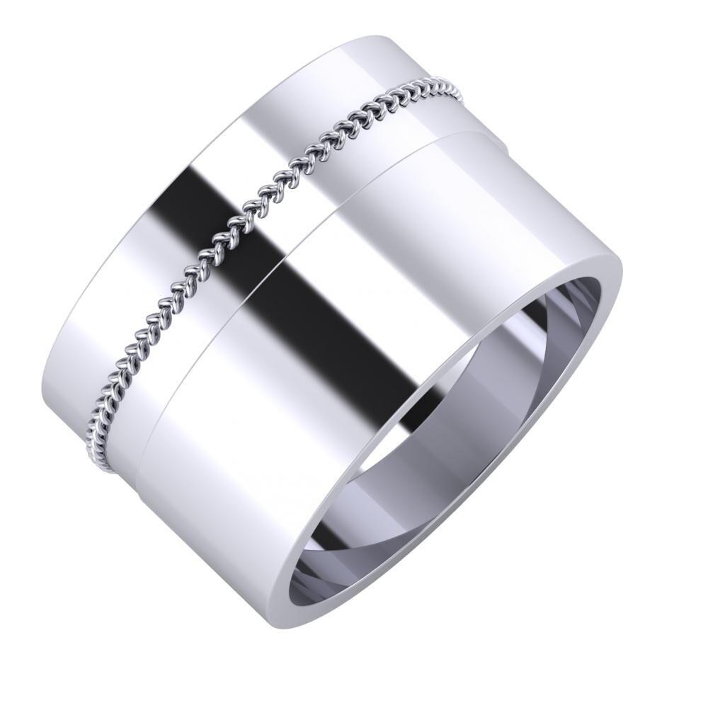 Áfonya - Adela 13mm platina karikagyűrű