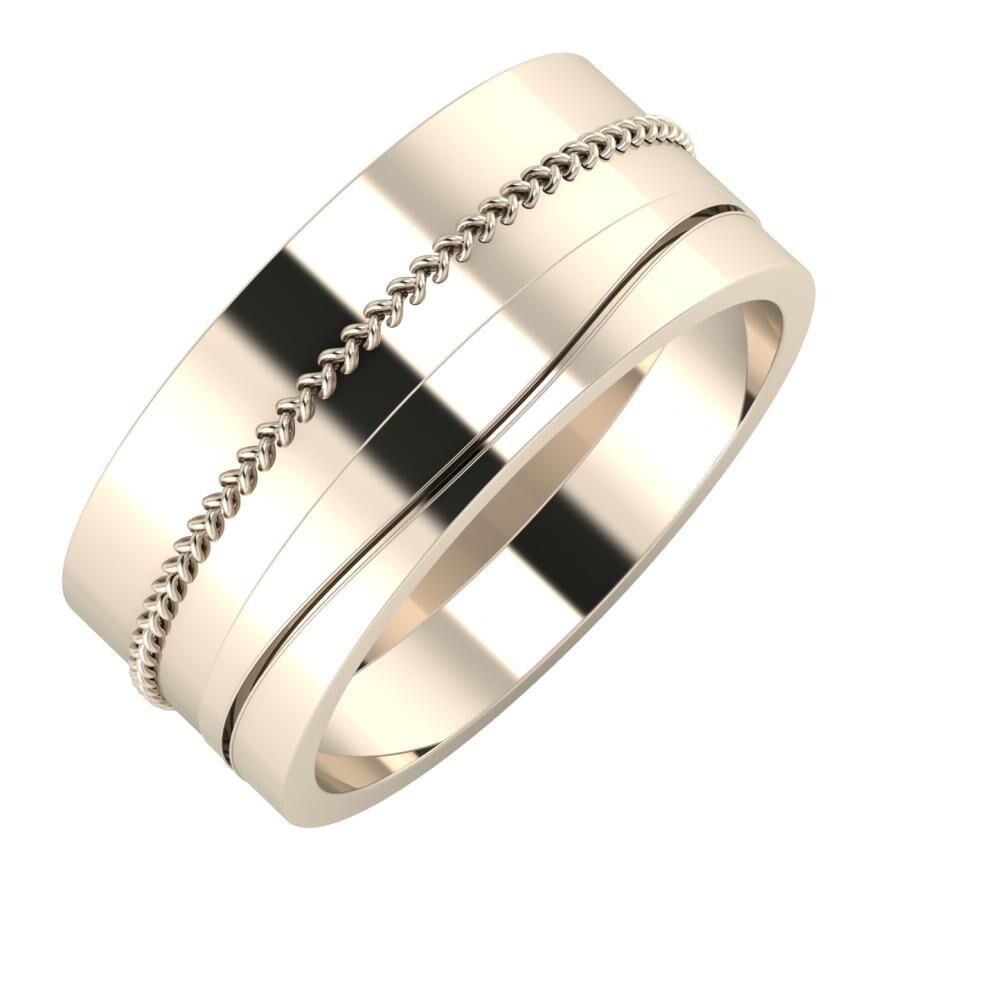 Áfonya - Adelinda 9mm 22 karátos rosé arany karikagyűrű