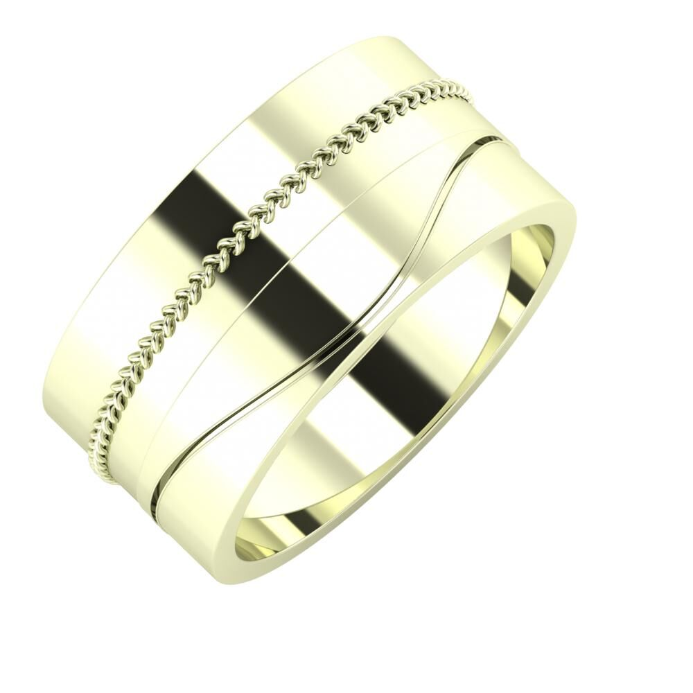 Áfonya - Adelinda 10mm 22 karátos fehér arany karikagyűrű