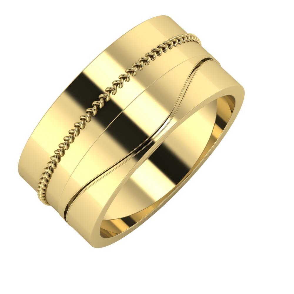 Áfonya - Adelinda 10mm 14 karátos sárga arany karikagyűrű