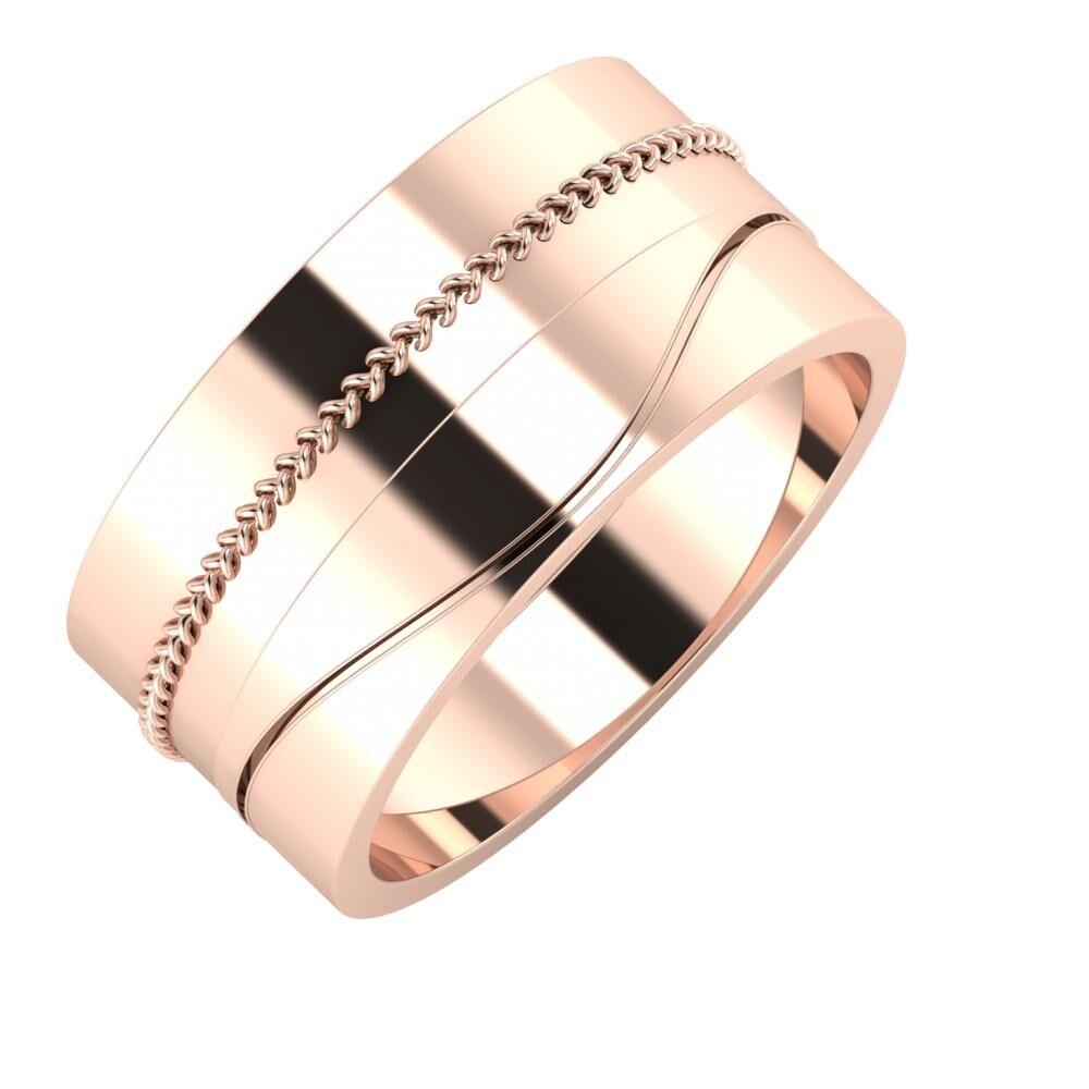 Áfonya - Adelinda 10mm 14 karátos rosé arany karikagyűrű