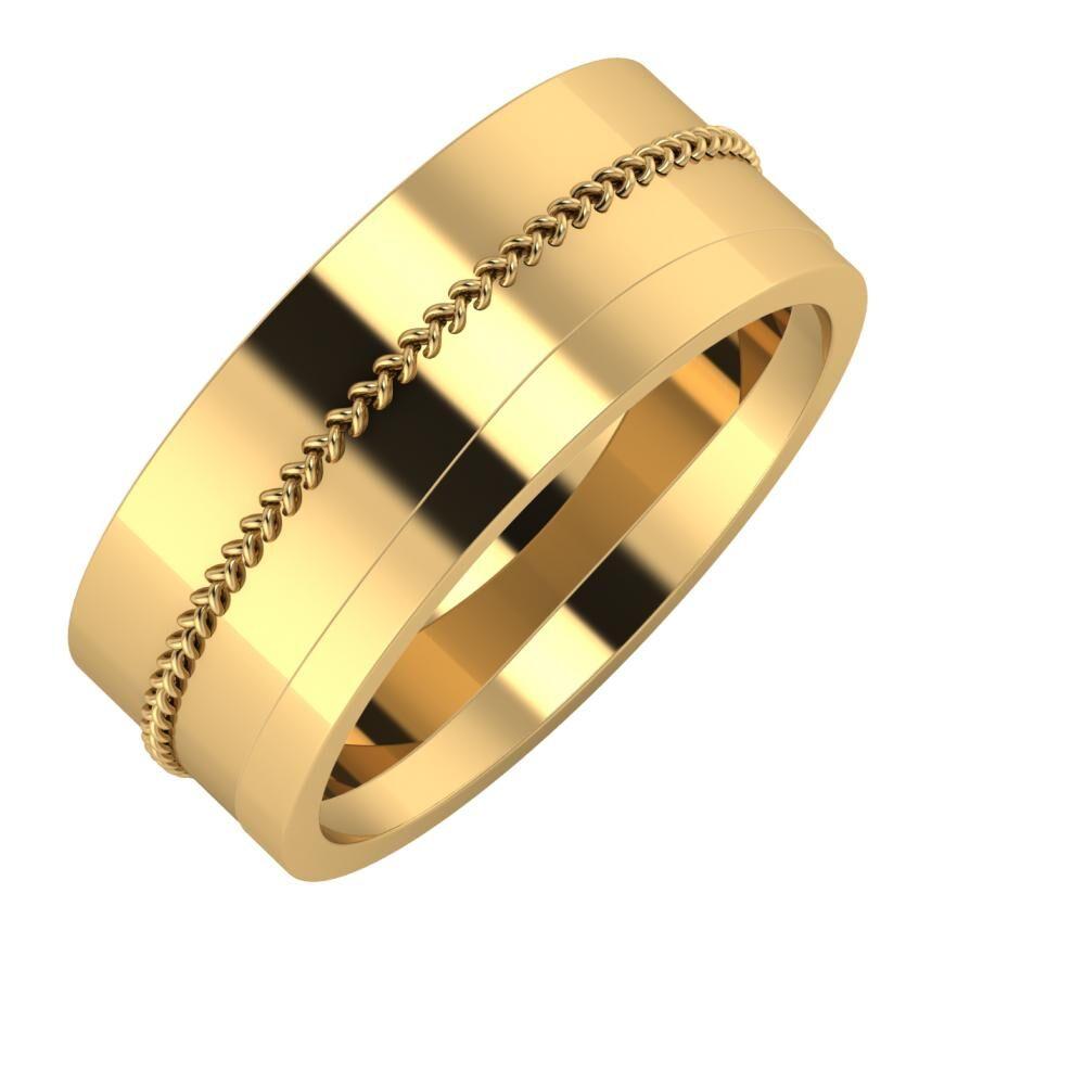 Áfonya - Adria 8mm 18 karátos sárga arany karikagyűrű