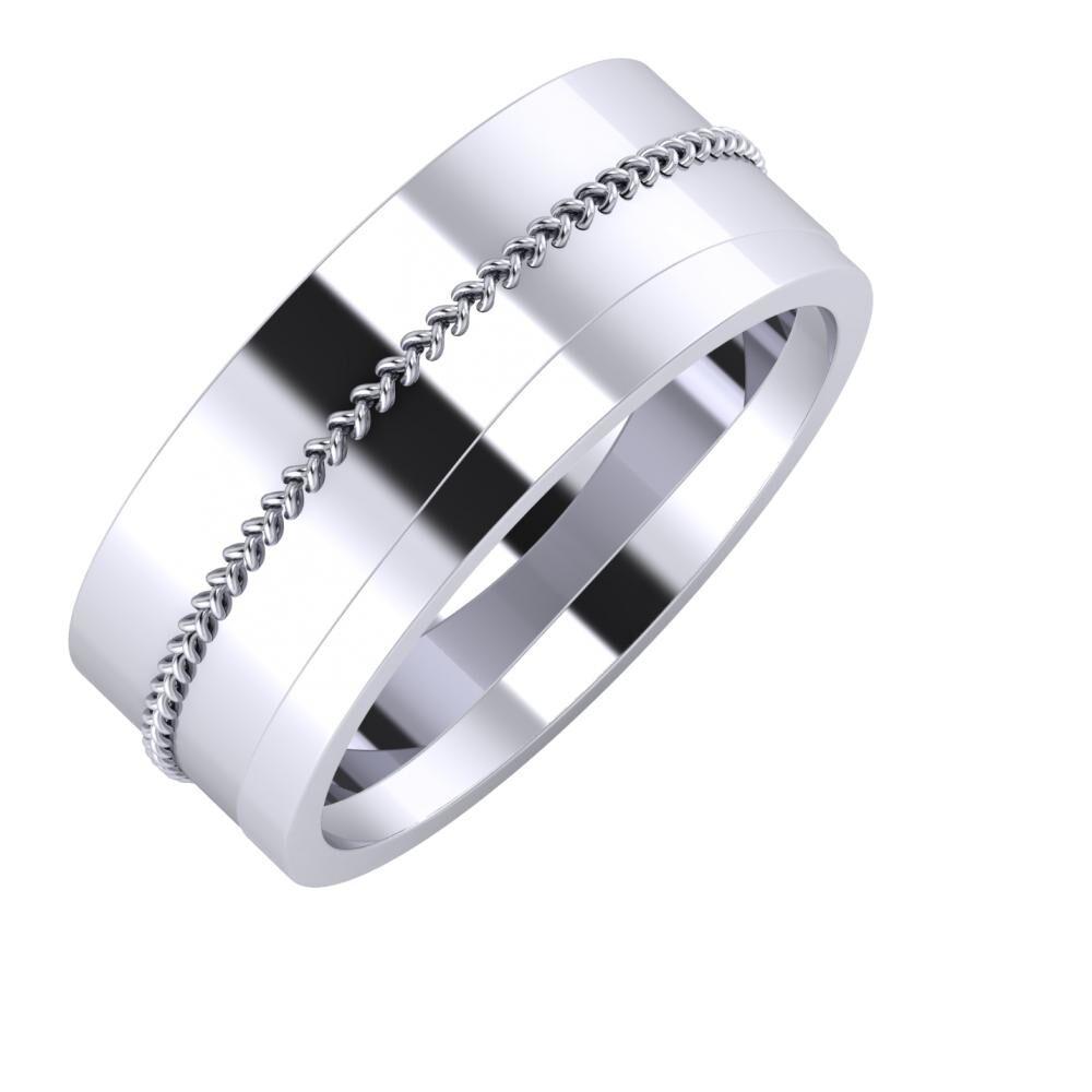 Áfonya - Adria 8mm platina karikagyűrű