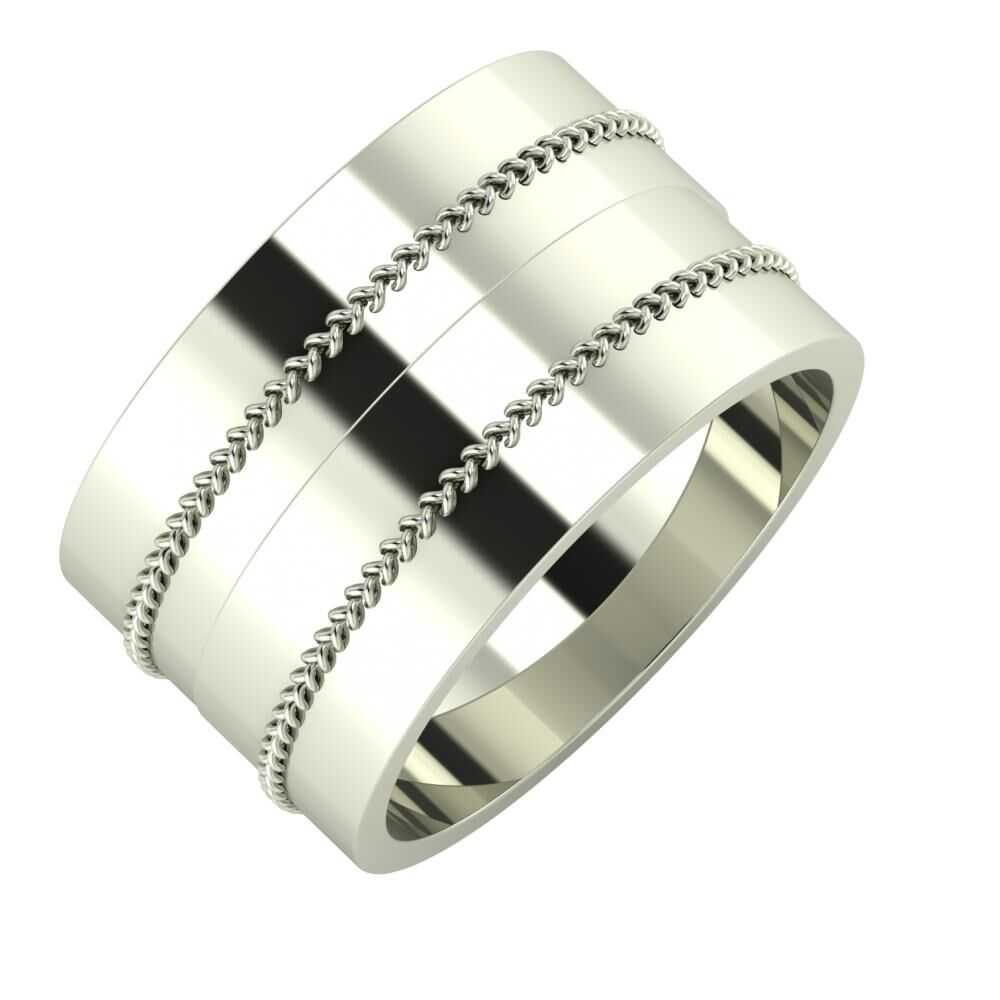 Áfonya - Áfonya 12mm 14 karátos fehér arany karikagyűrű