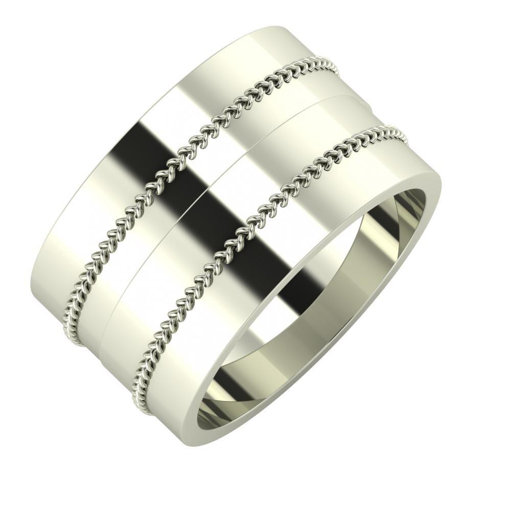 Áfonya - Áfonya 12mm 18 karátos fehér arany karikagyűrű